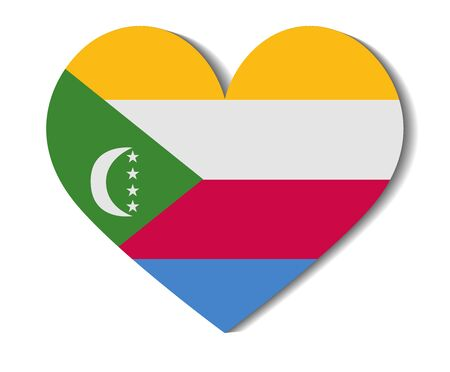 comoros: heart flag comoros