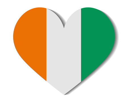 ivory: heart flag ivory coast