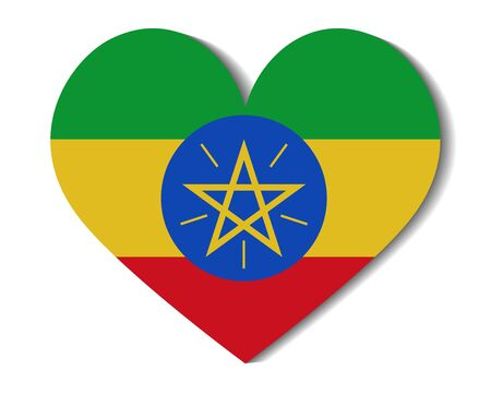 national flag ethiopia: heart flag ethiopia