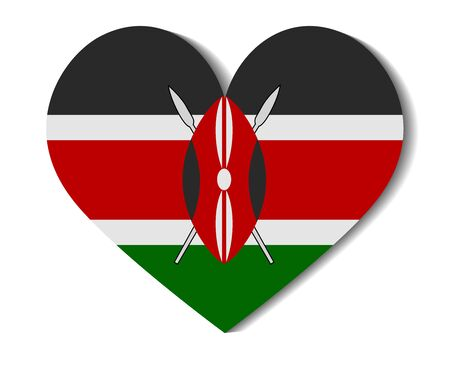 kenya: heart flag kenya