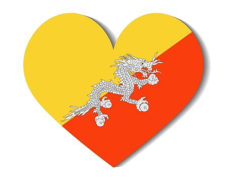 bhutan: heart flag bhutan