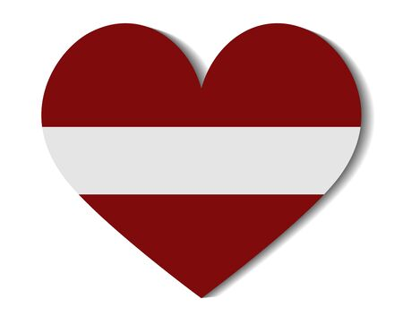 latvia: heart flag latvia