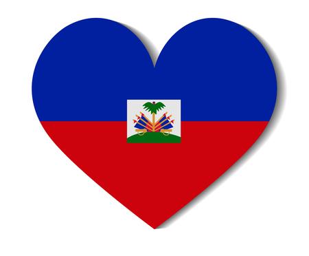 haiti: heart flag haiti Illustration