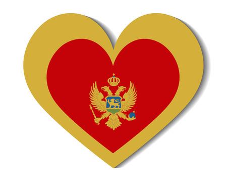 montenegro: heart flag montenegro
