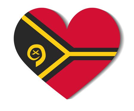 vanuatu: heart flag vanuatu