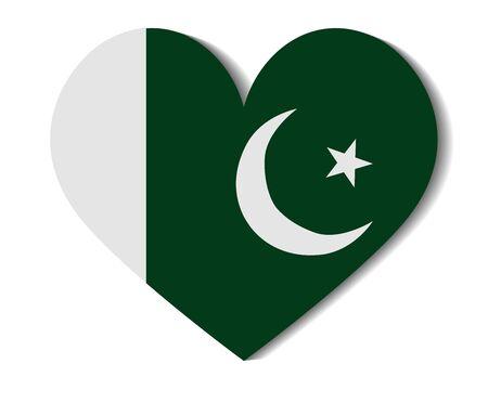 flag of pakistan: heart flag pakistan