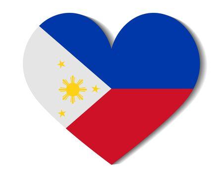 philippines: heart flag philippines