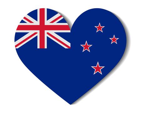 new zealand: heart flag new zealand