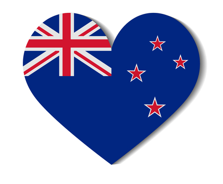 bandera de nueva zelanda: Indicador del coraz�n de Nueva Zelanda