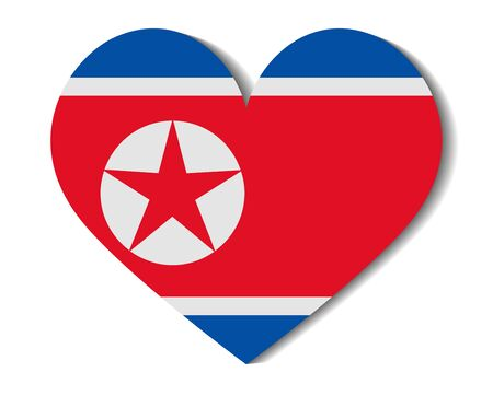 north korea: heart flag north korea