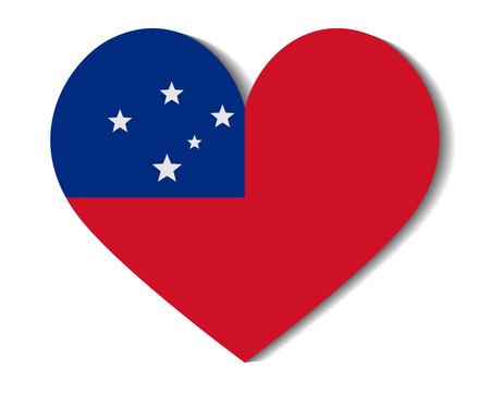 samoa: heart flag samoa