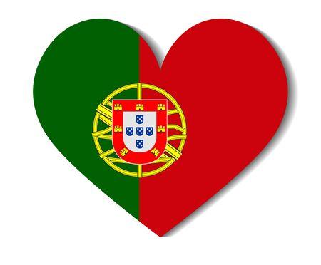 bandera de portugal: Indicador del corazón de Portugal