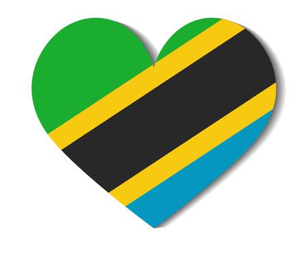 tanzania: heart flag tanzania Illustration