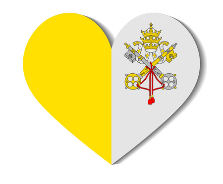 vatican city: heart flag vatican city