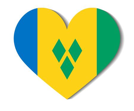 saint: heart flag saint vincent