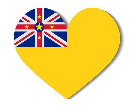 niue: heart flag niue Illustration