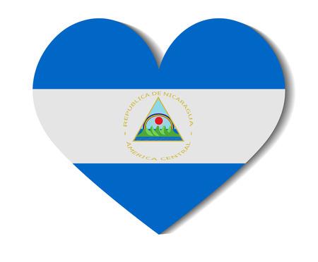 nicaragua: heart flag nicaragua