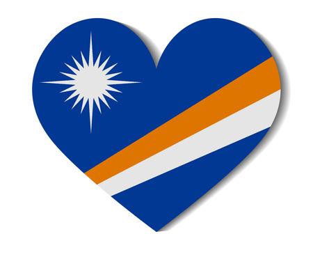 marshall: heart flag marshall islands