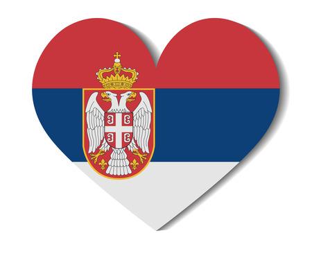 serbia: heart flag serbia