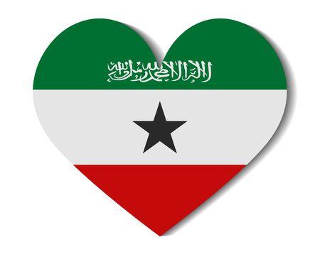 somaliland: heart flag somaliland Illustration
