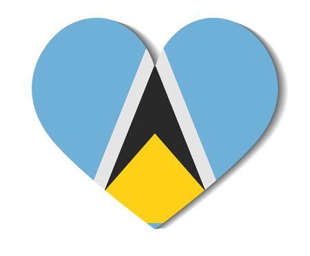 saint: heart flag saint lucia Illustration