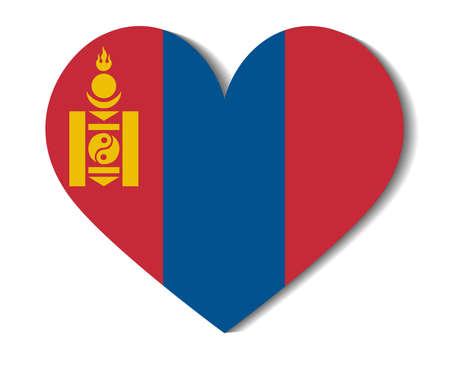 mongolia: heart flag mongolia