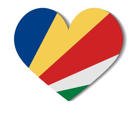 seychelles: heart flag seychelles