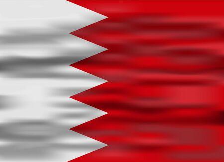 bahrain: realistic flag bahrain