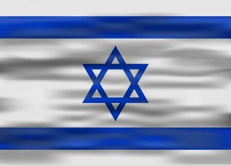 flag of israel: realistic flag israel