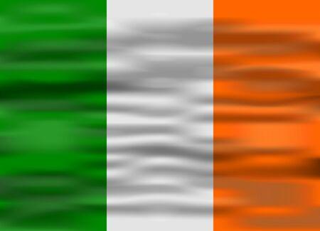 ireland flag: realistic flag ireland Illustration