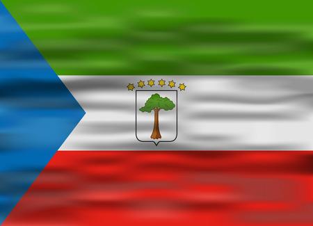 equatorial guinea: realistic flag equatorial guinea