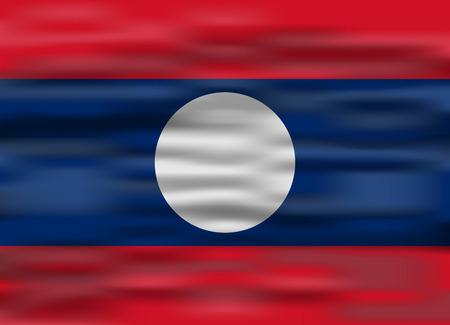 laos: realistic flag laos
