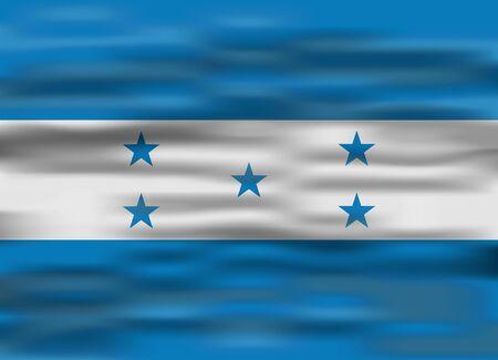 honduras: realistic flag honduras