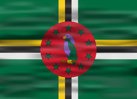 dominica: realistic flag dominica Illustration