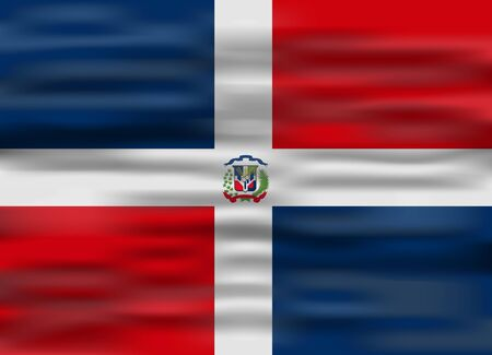 dominican: realistic flag dominican republic
