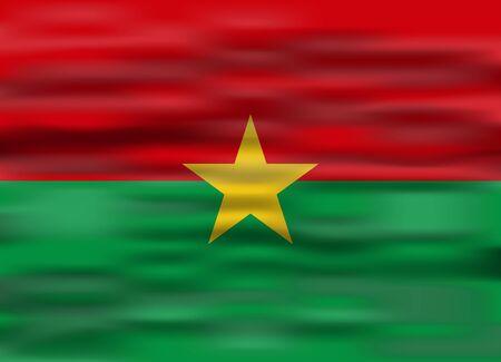 burkina faso: realistic flag burkina faso