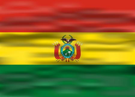 realistic flag bolivia