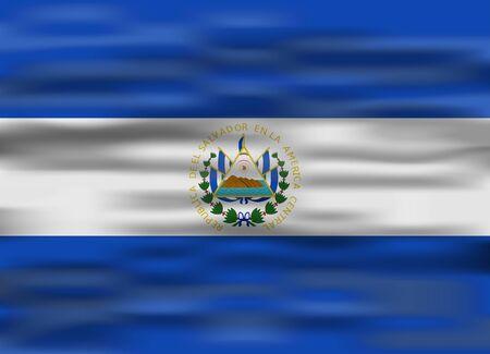 realistic flag el salvador