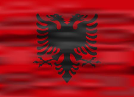albania: realistic flag albania