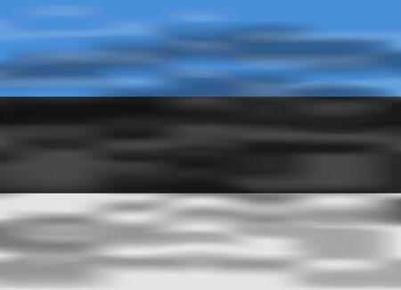 estonia: realistic flag estonia