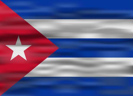 realistic flag cuba Ilustração