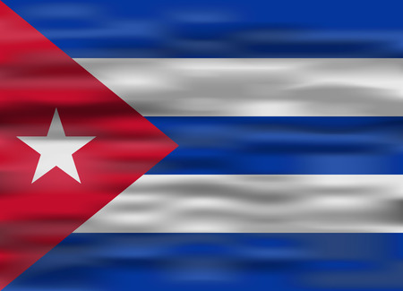 realistic flag cuba Illustration