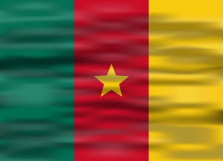 cameroon: realistic flag cameroon Illustration