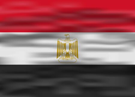 flag of egypt: realistic flag egypt Illustration