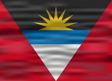 antigua: realistic flag antigua and barbuda