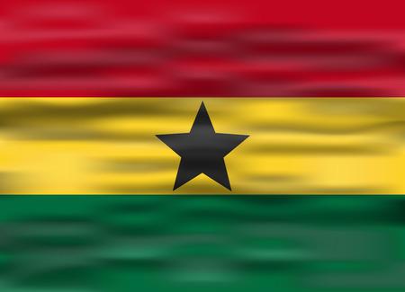 ghana: realistic flag ghana