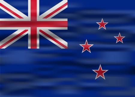 new zealand: realistic flag new zealand