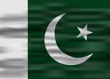 flag of pakistan: realistic flag pakistan