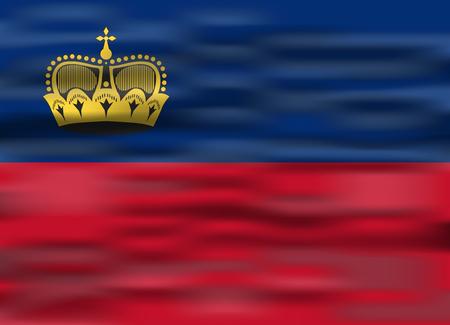 liechtenstein: realistic flag liechtenstein