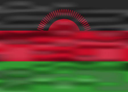 malawi: realistic flag malawi